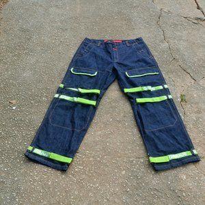 MARITHE FRANCOIS GIRBAUD Baggy Jeans Green Trim